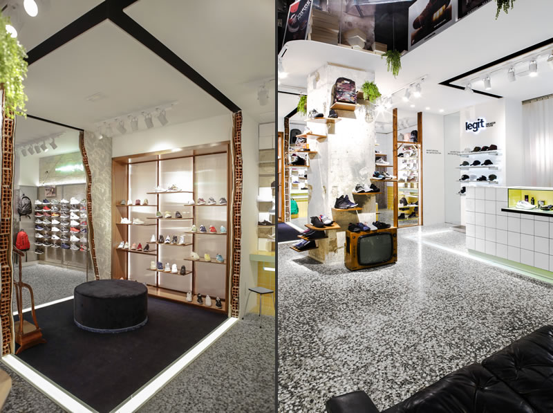 CuldeSac retail design Legit Sneakers house Valencia