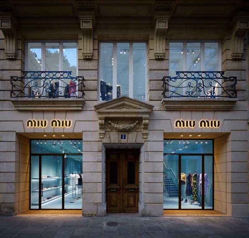 Miu Miu boutique Parigi Rue du Faubourg Saint Honoré