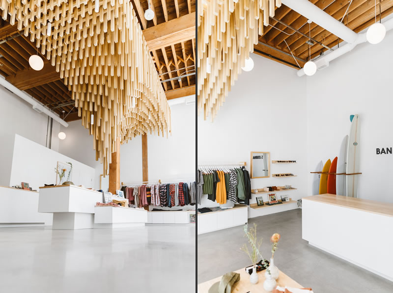 progettazione negozi flagship store banks journal los angeles