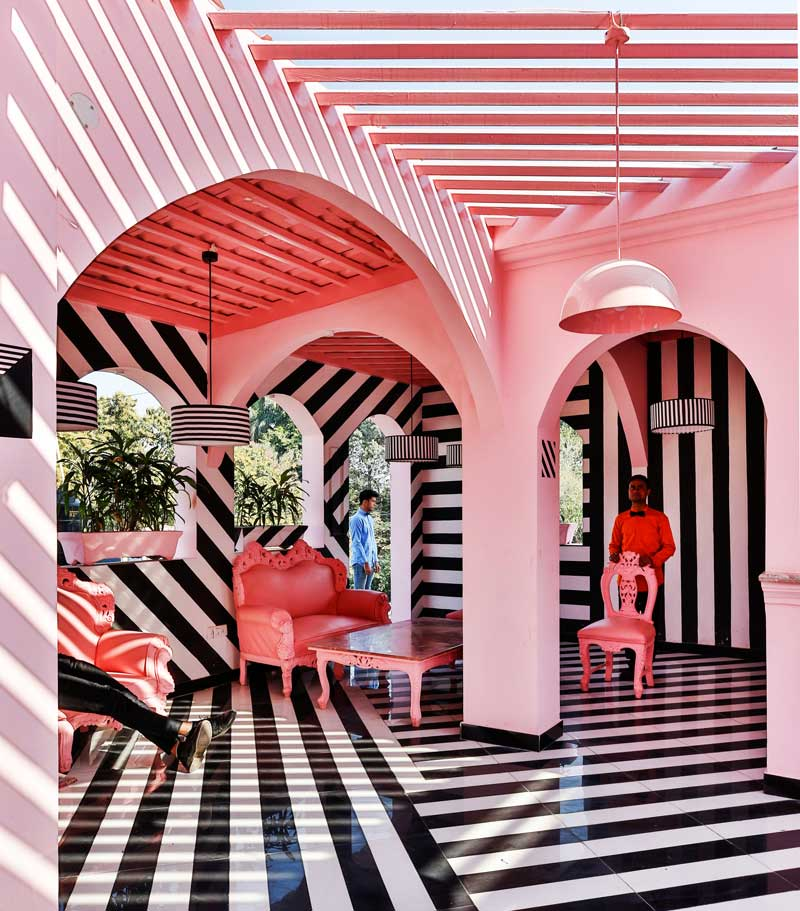 restaurant design renesa architecture studio the pink zebra
