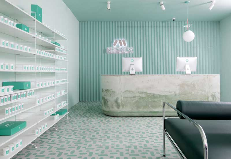 Sergio Mannino progetto Farmacia Medly New York