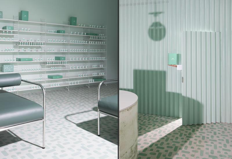 Sergio Mannino Studio designed the Medly pharmacy New York