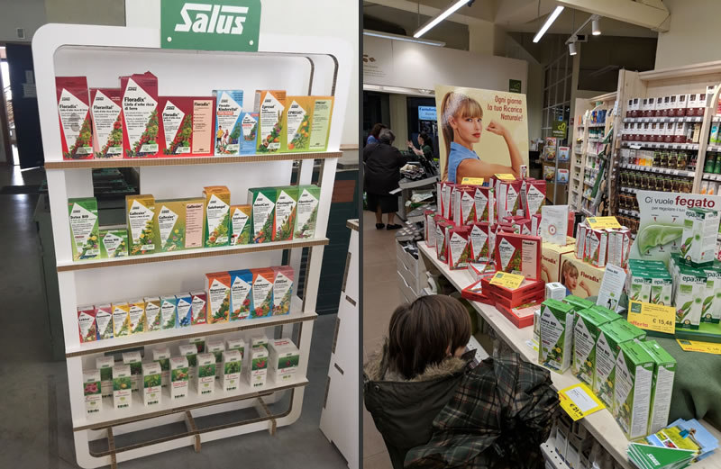 Visual Merchandising in Farmacia XT retail