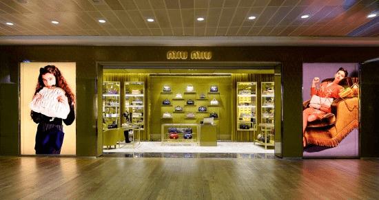 Miu Miu ha inaugurato un nuovo corner presso l'aeroporto di Heathrow