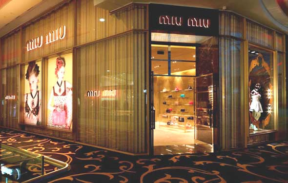 Miu Miu primo flagship store in Marocco, all'interno del Morocco Mall di Casablanca