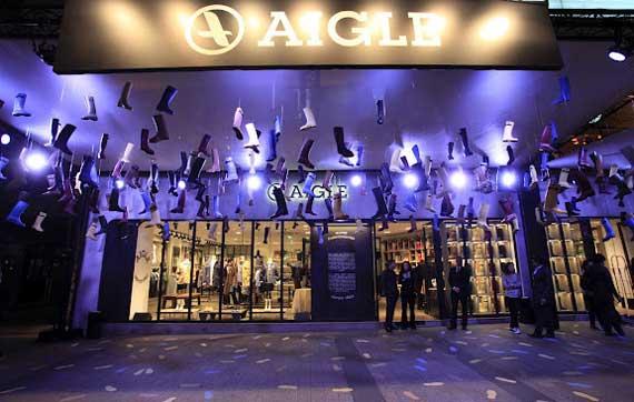 AIGLE store Champs-Elysées Parigi