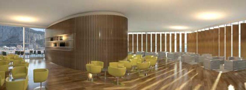 Il progetto Gibilterra: CRC (in collaborazione con Continental Design) progetta i duty free e negozi dell'aeroporto.