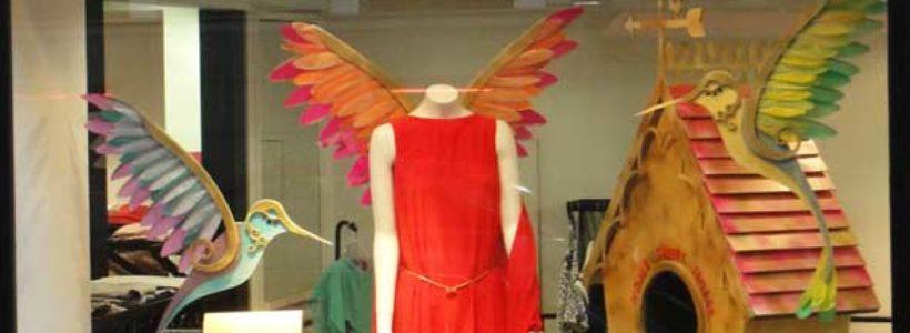 BIRD'S FASHION DREAM…vetrine moda in un racconto fiabesco.
