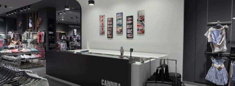 CANDIDA: otto punti vendita, distribuiti tra Campania, Sicilia e Lazio, dedicati all'abbigliamento giovane.