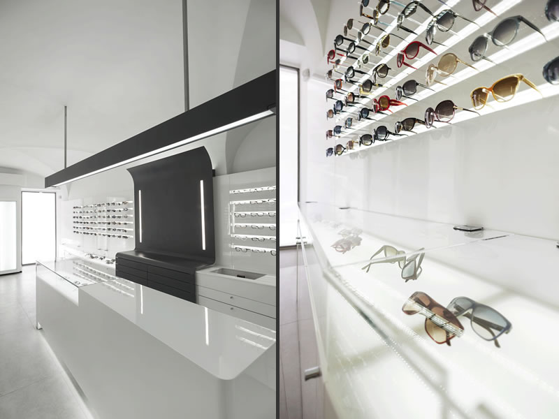 Ottica Service progettato dall'architetto Francesco Mottini