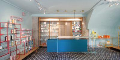 De los Austrias Chemist, a new project by Stone Designs.
