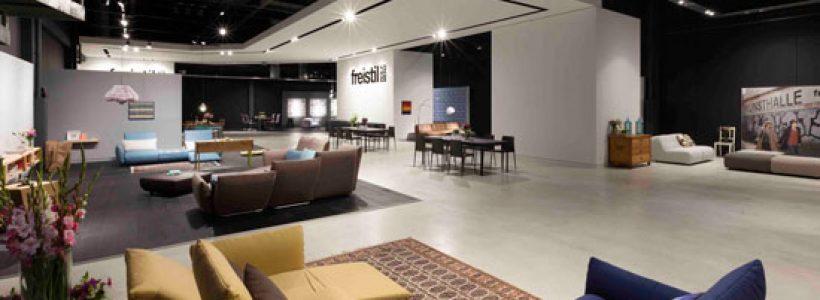 KVB Design create new retail showroom concept for Rolf Benz' freistil brand.