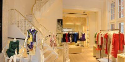 American fashion house OSCAR DE LA RENTA opens in London.