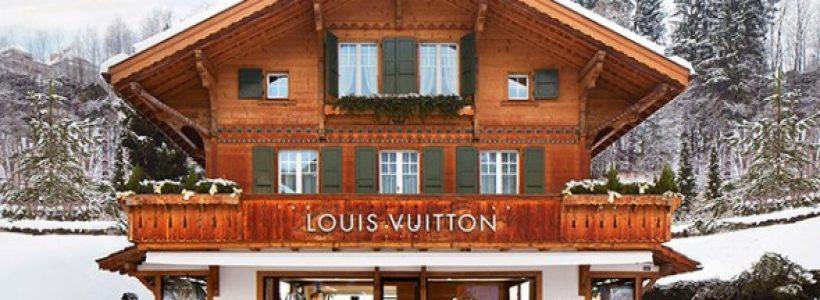 """Louis Vuitton Opens New """"Winter Resort"""" Store in Switzerland."""