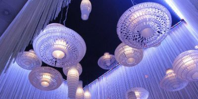 Tropico di FOSCARINI illumina la hall delle Gothia Towers a Goteborg.