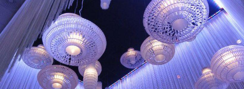 Tropico di FOSCARINI illumina la hall delle Gothia Towers a Goteborg.