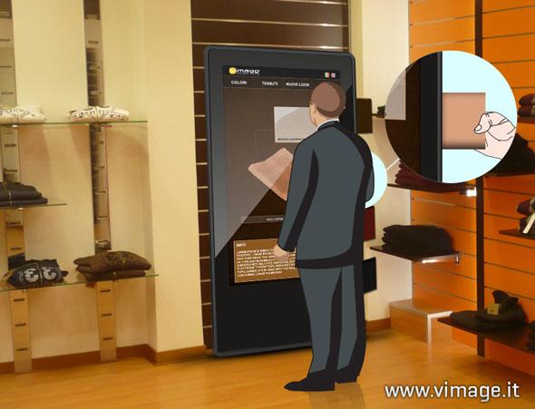 Omnia Virtual Mirror specchio interattivo per arredare intrattenere ed informare.