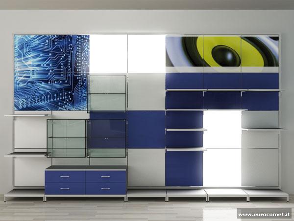 sistemi di arredo modulari per negozi