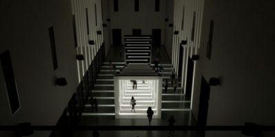 iGuzzini al Fuorisalone 2013, tra l'università Statale di Milano e La Triennale.