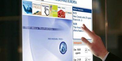 La ripresa del banking passa dal digital signage