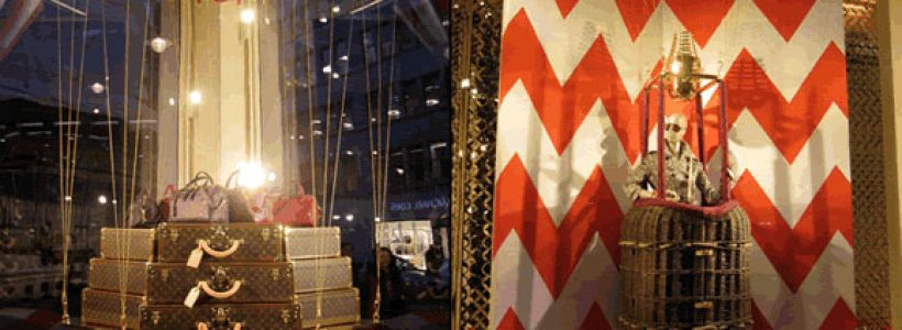 LOUIS VUITTON windows at the Bond Street.