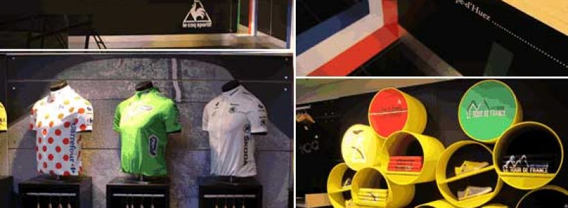 Le Coq Sportif celebrates the 100th Tour de France at Harrods with an Installation by Checkland Kindleysides