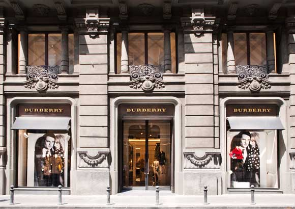 burberry boutique napoli