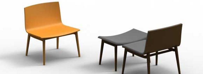 Seduta EMMA XL – design Favaretto & Partners.