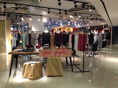 Free People store-in-a-store Hong Kong