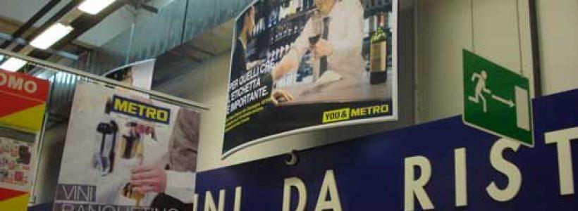 PASOLINI LUIGI SPA dà forma alla visual communication in-store di Metro Italia Cash & Carry.