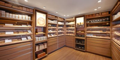 DAVIDOFF Cigars flagship store Brussels.