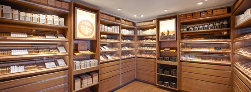 DAVIDOFF Cigars flagship store Brussels.