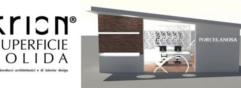 KRION Superficie solida per involucri architettonici e di interior design.