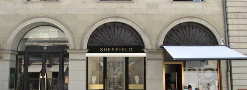SHEFFIELD Ginevra. La boutique del gioiello in soli 49 metri quadri.