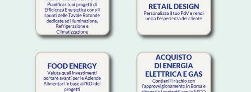 RETAIL ENERGY 2015. L'efficienza e il risparmio energetico entrano nei punti vendita.