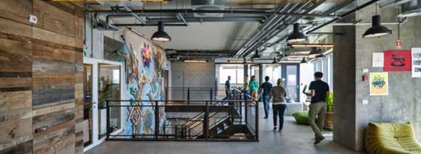 STUDIO BEAM lighting for the Facebook offices in Tel Aviv.