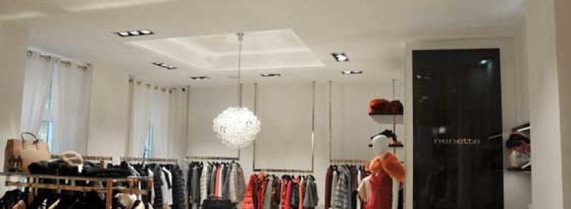 FABAS LUCE illumina gli store Nenette.