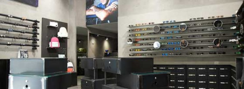 Gruppo icat creates the first POLICE Store in Milan.