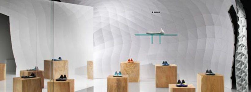 Soichi Mizutani designs Iguaneye Tokyo shoe store.