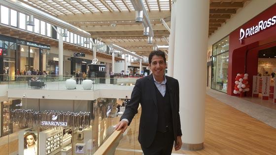 Davide Padoa Chief Executive di Design International all'inaugurazione del centro commerciale di Arese