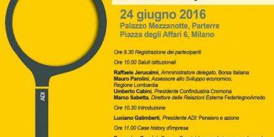 COMPASSO D'ORO 2016 Design e impresa: pensiero e azione