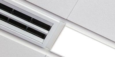 """Techzone di Armstrong Building Products """"cambia"""" look: crea la tua configurazione di soffitto grazie alla nuova varietà di elementi tecnici."""