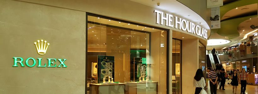 DGA illumina la nuova boutique di The Hour Glass a Singapore