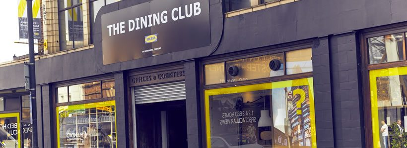 IKEA propone a Londra il suo pop up restaurant: The Dining Club.