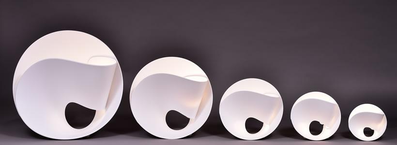 la natura in una lampada hi macs presenta tulip di pierre cabrera an shopfitting magazine. Black Bedroom Furniture Sets. Home Design Ideas