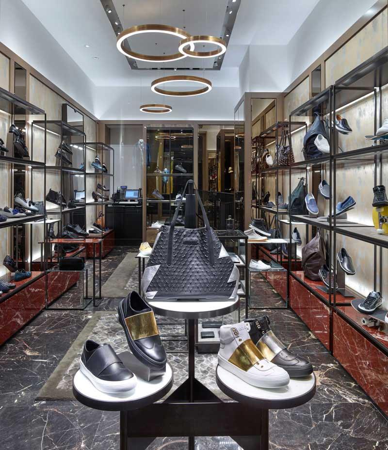 retail design boutique Jimmy Choo Milano
