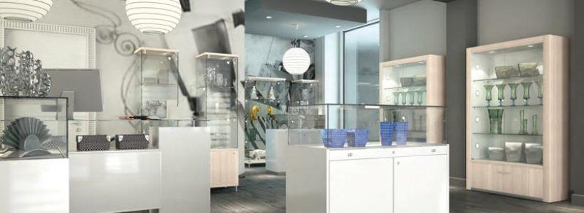 Quadratum e Alldesign, le collezioni ITALVETRINE presentate a EuroShop 2017.