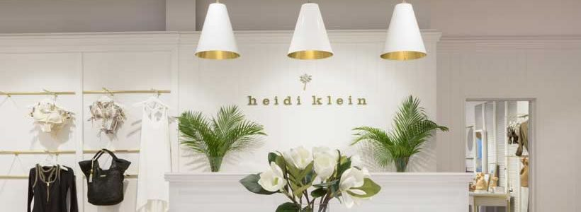 Kinnersley Kent Design has created a new store concept for Heidi Klein.
