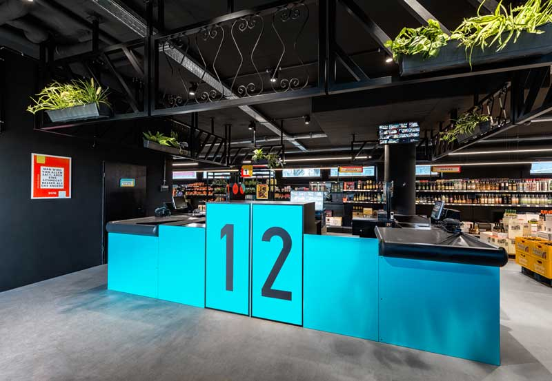Masquespacio design Solera supermarket Cologne