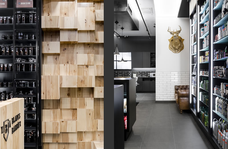 Blades Barbier retail design Parka Architecture